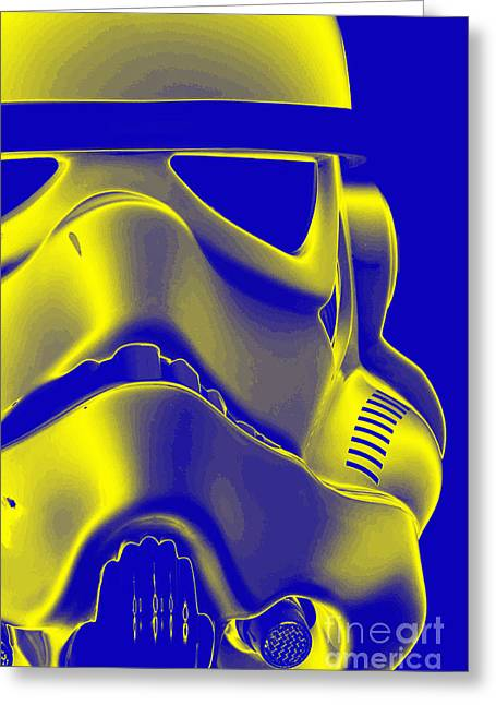 Science Fiction Greeting Cards - Stormtrooper Helmet 5 Greeting Card by Micah May