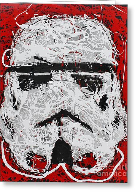 Stormtrooper Greeting Card by Michael Kulick