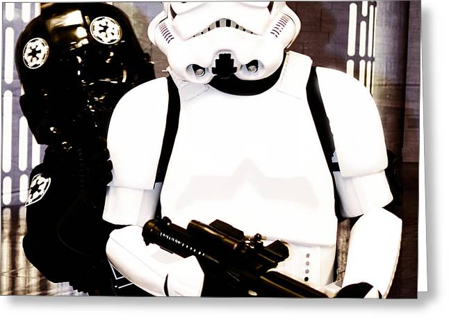 Blaster Greeting Cards - Stormtrooper Greeting Card by Toppart Sweden