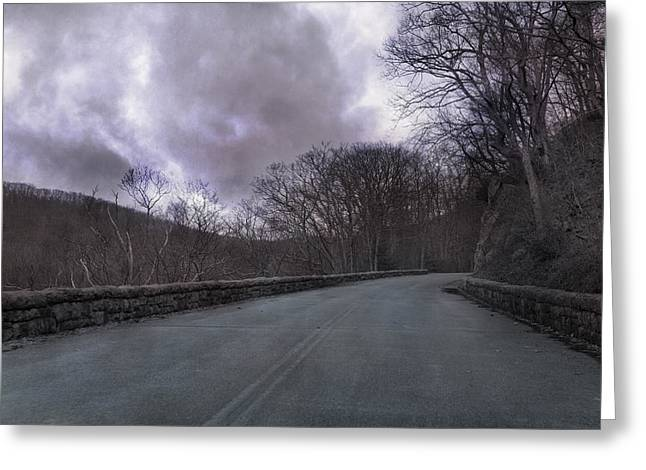 Turbulent Skies Photographs Greeting Cards - Stormy Blue Ridge Parkway Greeting Card by Betsy C  Knapp
