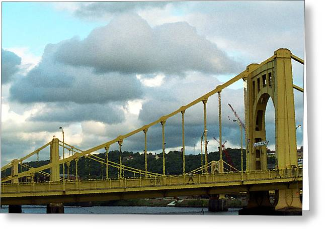Stormy Bridge Greeting Card by Frank Romeo