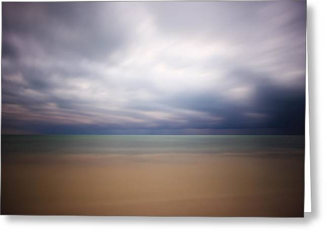 Florida Gulf Coast Greeting Cards - Stormy Calm Greeting Card by Adam Romanowicz