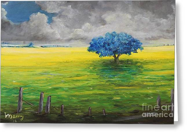 Stormy Clouds Greeting Card by Alicia Maury
