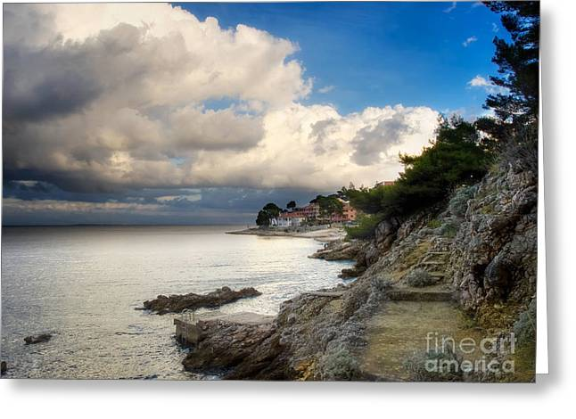 Sea View Greeting Cards - Stormy coast Greeting Card by Sinisa Botas