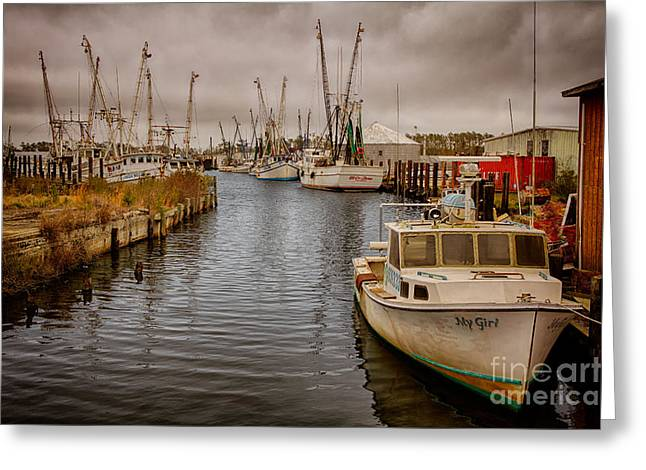 Dan Carmichael Greeting Cards - Stormy Day at Englehard - Outer Banks I Greeting Card by Dan Carmichael