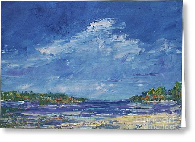 Port Kent Greeting Cards - Stormy Day at Picnic Island Greeting Card by Gail Kent