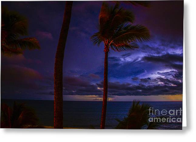 Ocean Art Photography Greeting Cards - Stormy Distance Greeting Card by Amanda Sinco