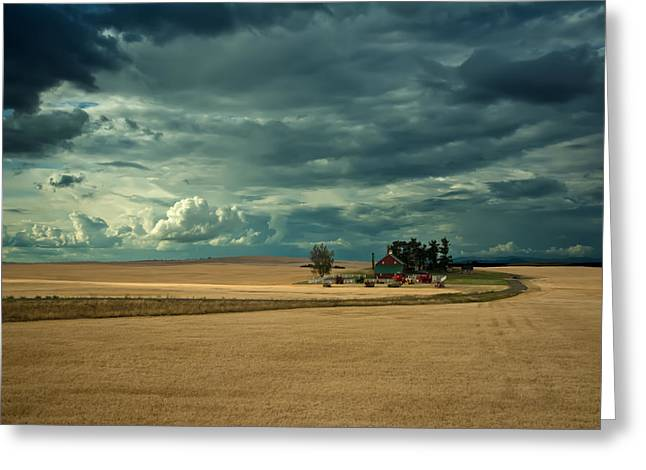 Just Right Greeting Cards - Stormy Farm Greeting Card by Randall Branham