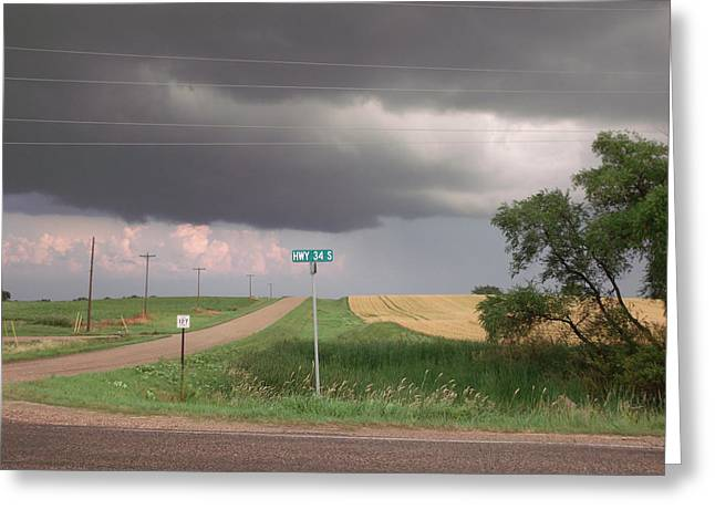 Stormy Highway 34 Greeting Card by Brian  Maloney