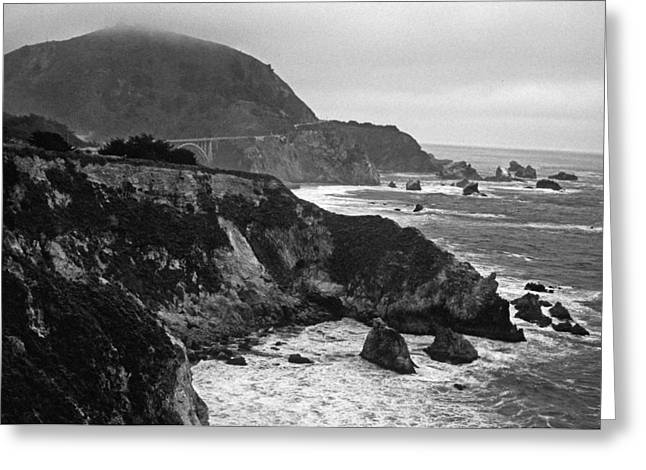 Bridge Greeting Cards Greeting Cards - Stormy Hwy 1 Coast Greeting Card by Kathy Yates