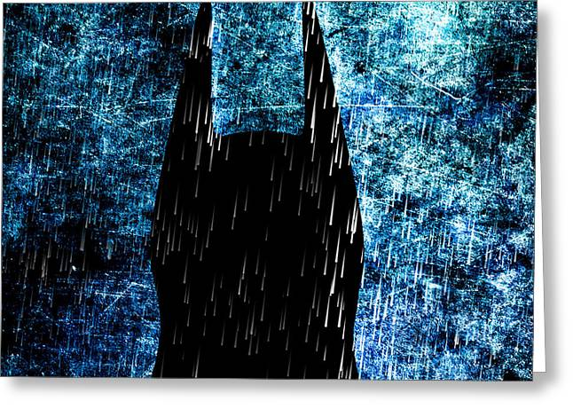 Abstract Rain Greeting Cards - Stormy Knight Dark Knight Greeting Card by Bob Orsillo