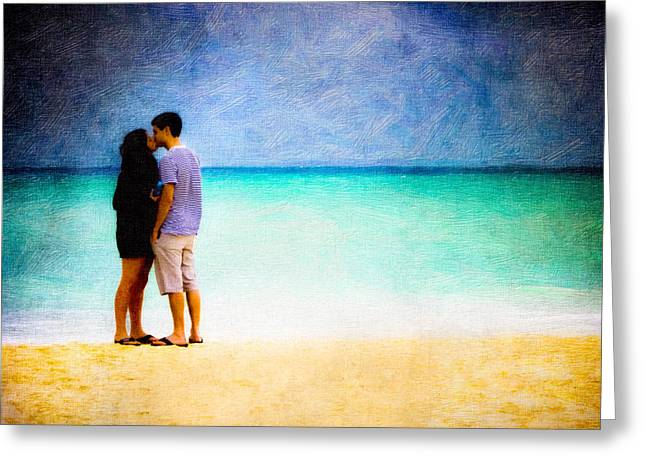 Storm Lovers Art Greeting Cards - Stormy Love - Playa Del Carmen Greeting Card by Mark Tisdale