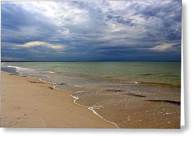 Storm Clouds Cape Cod Greeting Cards - Stormy Mayflower Beach Greeting Card by Amazing Jules