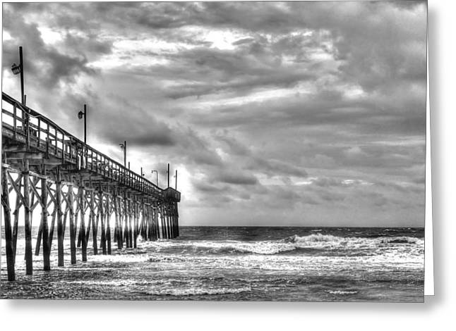 Surfing. Fishing Greeting Cards - Stormy Perspective Greeting Card by Don Mennig