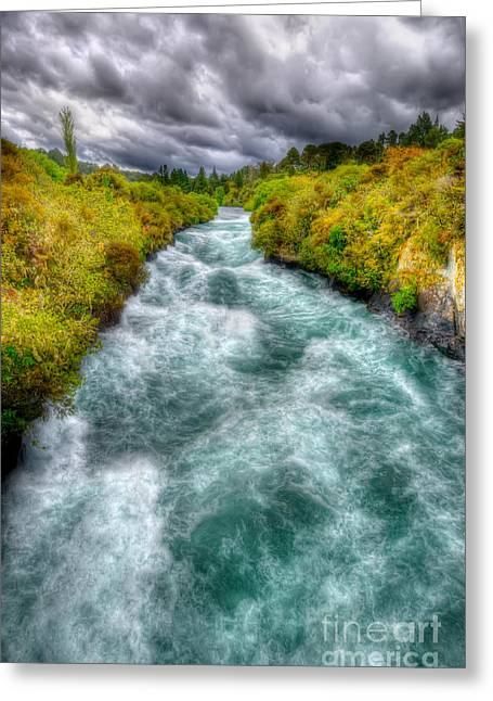 Stormy River Greeting Card by Colin Woods