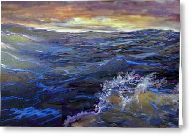 Wooden Ship Greeting Cards - Stormy Sea Greeting Card by Kevin Thomas
