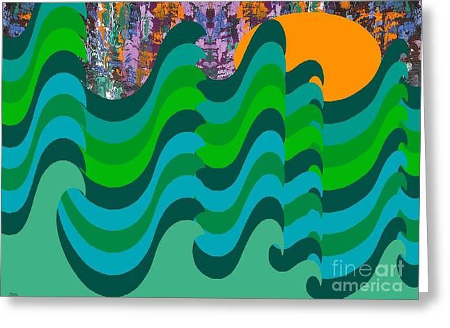 STORMY SEA Greeting Card by Patrick J Murphy