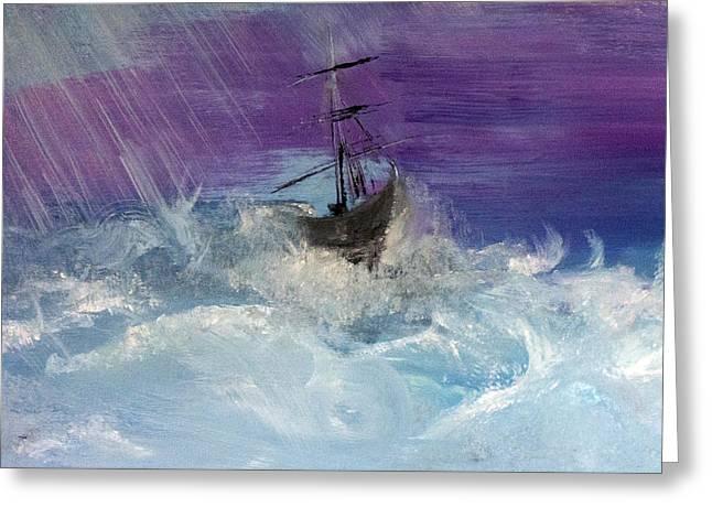 Stormy Seas Greeting Card by Lisa Kaiser