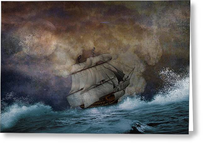 Light Tackle Greeting Cards - Stormy Seas Greeting Card by Todd and candice Dailey