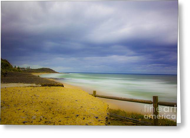 Stormy Shores Greeting Card by Andrew Wood