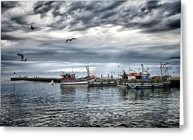 Famous Fish Abstract Greeting Cards - Stormy Skies - HDR Greeting Card by Andrew  Hewett