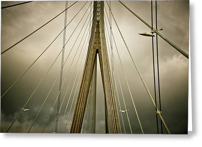 Drama Photographs Greeting Cards - Stormy Skies of Normandy Greeting Card by Loriental Photography