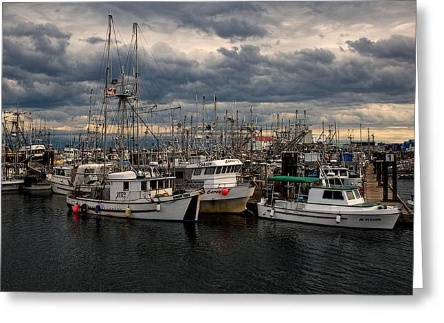 French Creek Marina Greeting Cards - Stormy Skies Greeting Card by Randy Hall
