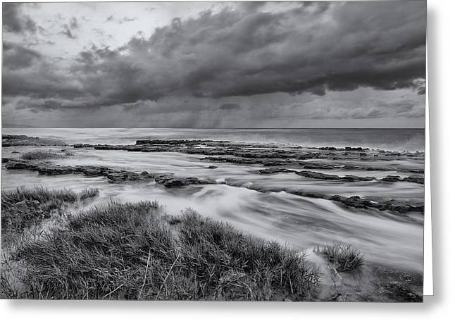 Top Seller Greeting Cards - Stormy sky and sea Greeting Card by Tin Lung Chao