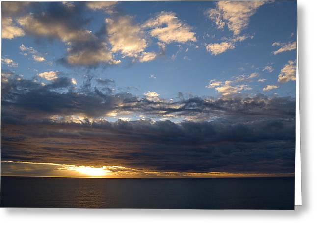 Ocean Landscape Greeting Cards - Stormy Sky Greeting Card by Bob Pardue