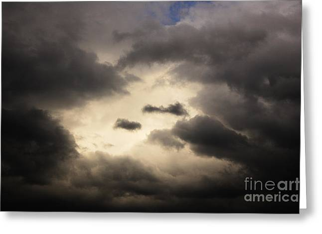 Stormy Sky with a Bit of Blue Greeting Card by Thomas R Fletcher