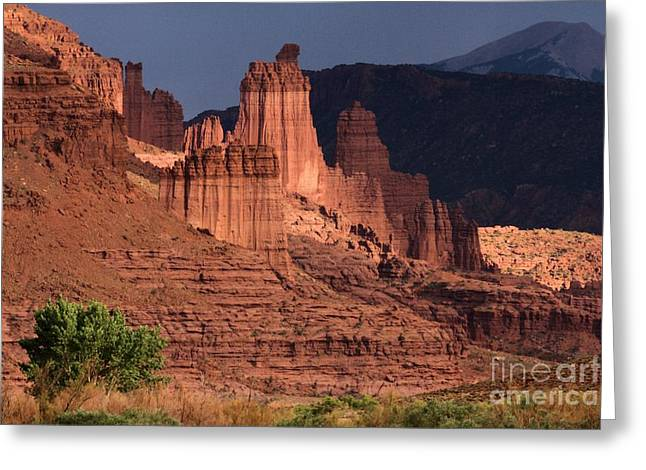 Southern Utah Greeting Cards - Stormy Sunset Greeting Card by Adam Jewell