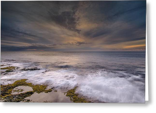 Lahaina Greeting Cards - Stormy sunset Greeting Card by Tin Lung Chao
