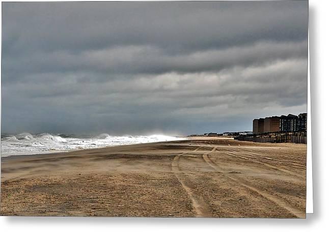 Stormy Surf - Bethany Beach - Delaware Greeting Card by Kim Bemis