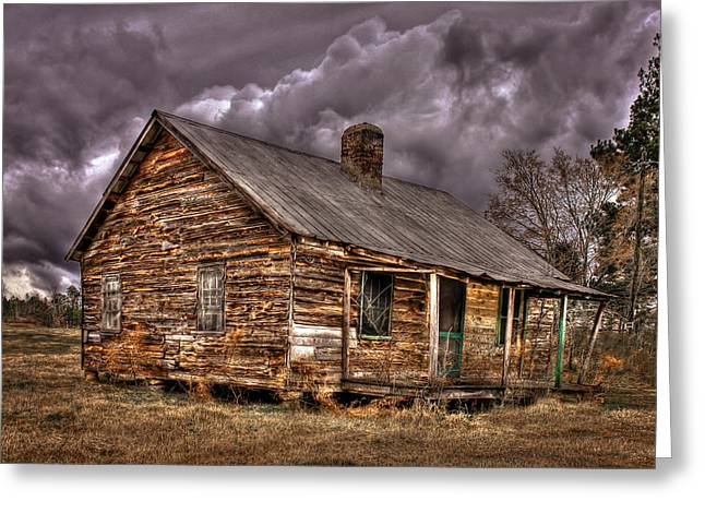 Sharecropper Greeting Cards - Stormy Times Greeting Card by Reid Callaway