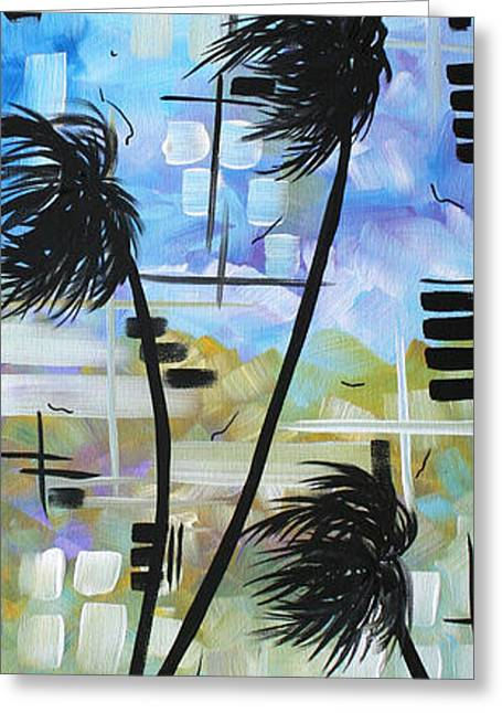 Abstract Waves Greeting Cards - Stormy Tropics by MADART Greeting Card by Megan Duncanson