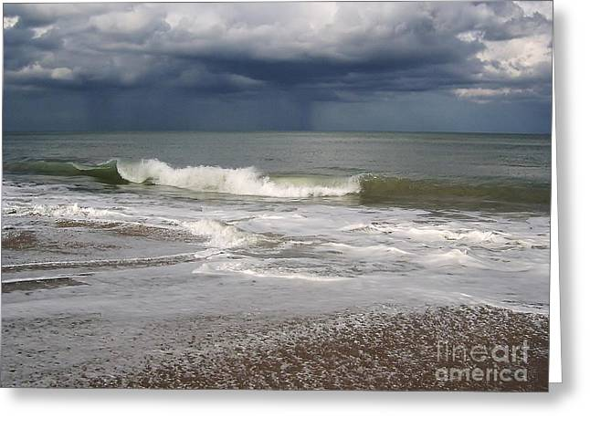 Storm Cloud On The Horizon Greeting Cards - Stormy Weather Greeting Card by D Hackett
