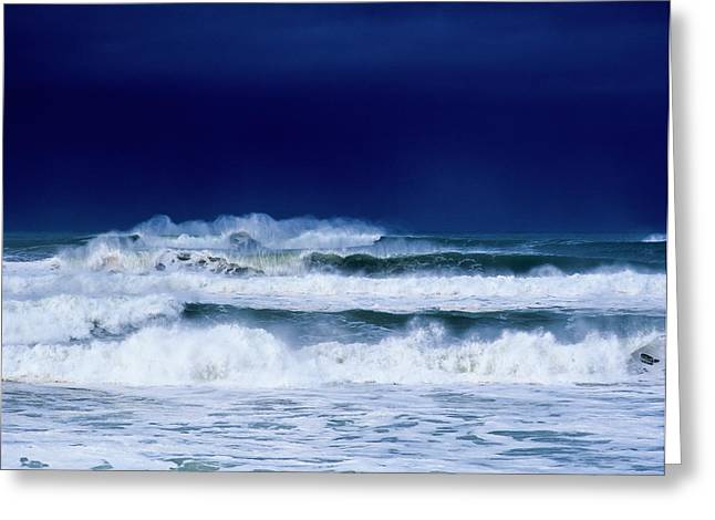 Stormy Weather Generates Heavy Surf Greeting Card by Robert L. Potts