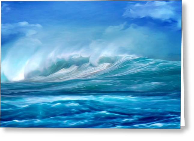 Storm Digital Greeting Cards - Stormy Weather Greeting Card by Phill Petrovic