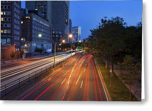 Storrow Drive  Greeting Card by Eric Gendron
