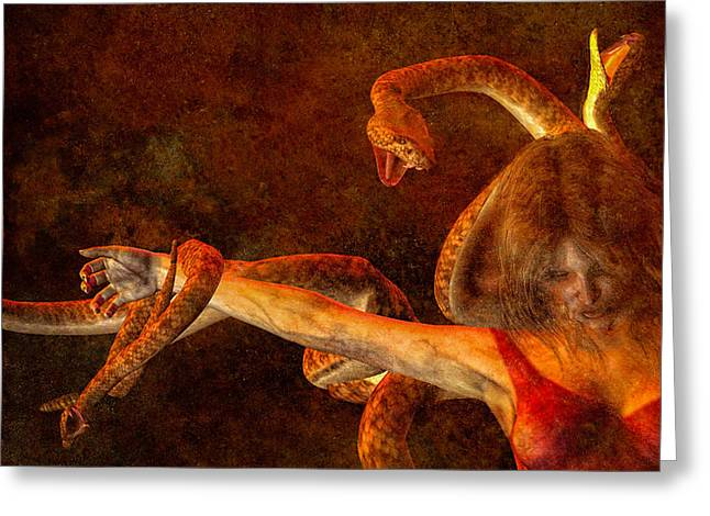 Medusa Digital Greeting Cards - Story of Eve Greeting Card by Bob Orsillo
