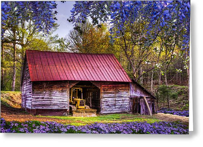Tennessee Barn Greeting Cards - Storybook Farms Greeting Card by Debra and Dave Vanderlaan