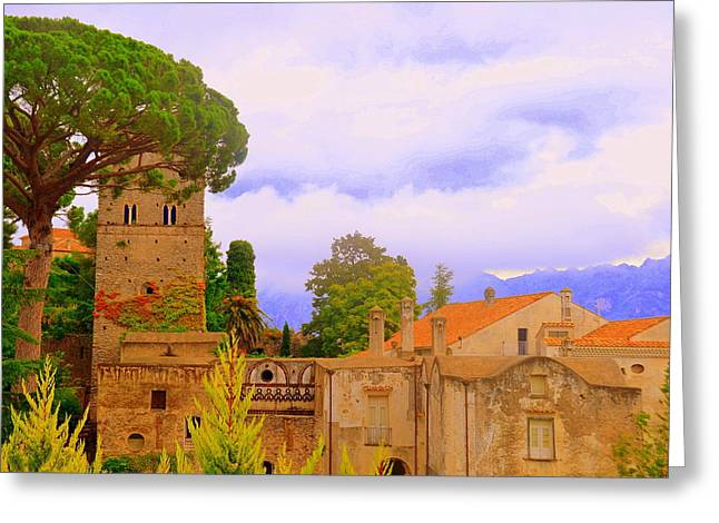 Southern Province Greeting Cards - Storybook Ravello Greeting Card by Toni Abdnour