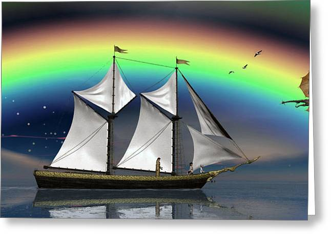 Storybook Greeting Cards - Storybook Voyage Greeting Card by Walter Colvin