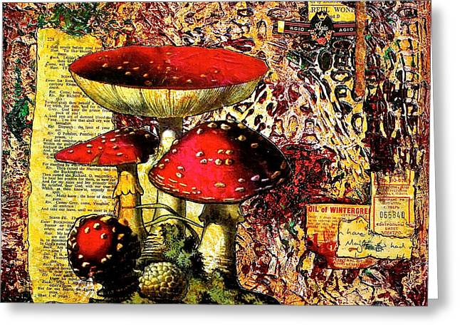 Toadstools Mixed Media Greeting Cards - Storytime Greeting Card by Bellesouth Studio
