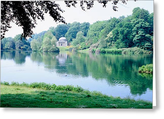 Arcadia Greeting Cards - Stourhead Garden, England, United Greeting Card by Panoramic Images