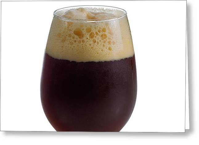 Space Draughts Greeting Cards - Stout Beer in Stemless Glass Greeting Card by Tom  Baker