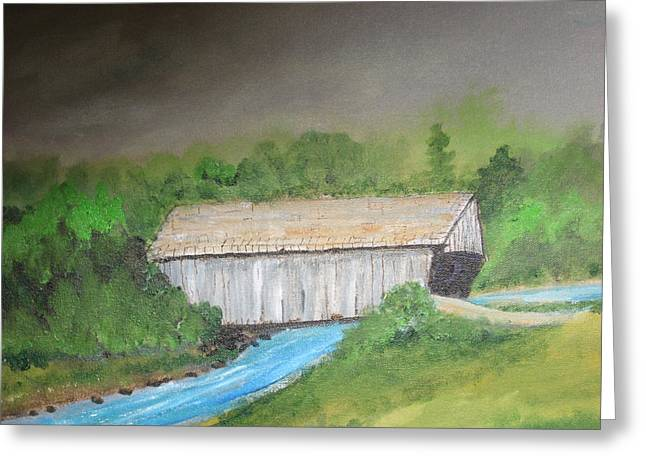 Stovall Covered Bridge Greeting Card by Robert Reily