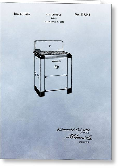 Old Stove Greeting Cards - Stove Patent Greeting Card by Dan Sproul