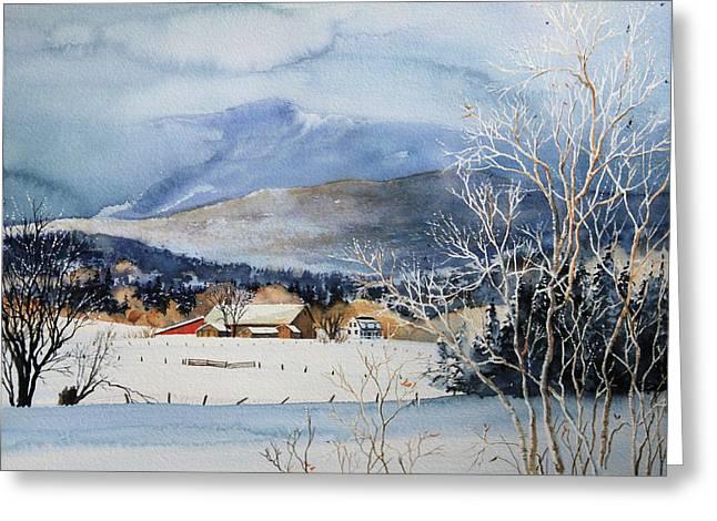 Hanne Lore Koehler Fine Art Greeting Cards - Stowe Valley Farm Greeting Card by Hanne Lore Koehler