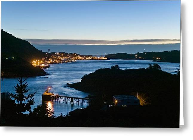 Kodiak Greeting Cards - St.paul Boat Harbor In Morning Twilight Greeting Card by Kevin Smith